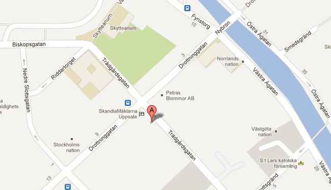 blåsenhus uppsala karta Location   CityStay Hotell Uppsala blåsenhus uppsala karta